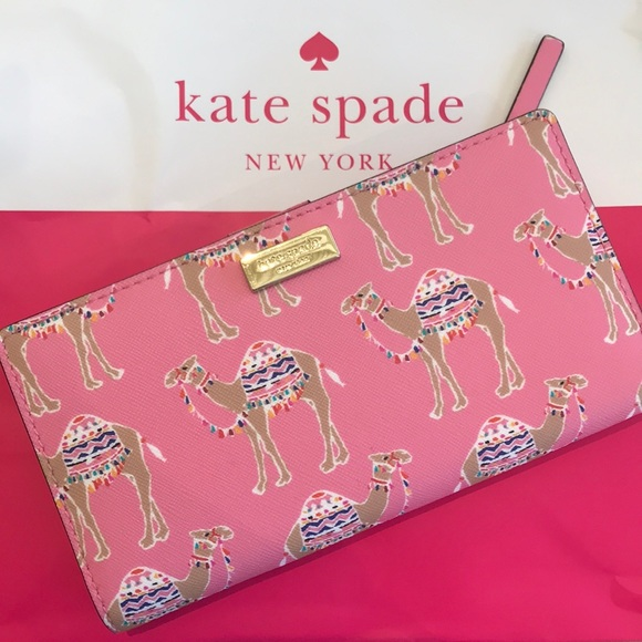 ac07c0cef9d9 ♤️KATE SPADE♤️Stacy Library Street Camel Wallet